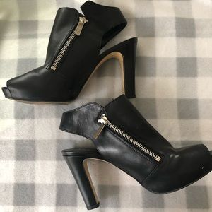 Franco Sarto Black Leather Booties